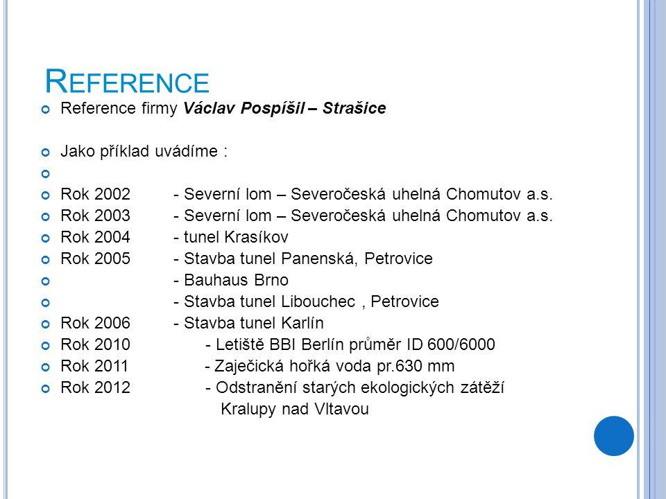 Reference Reference firmy Václav Pospíšil – Strašice
