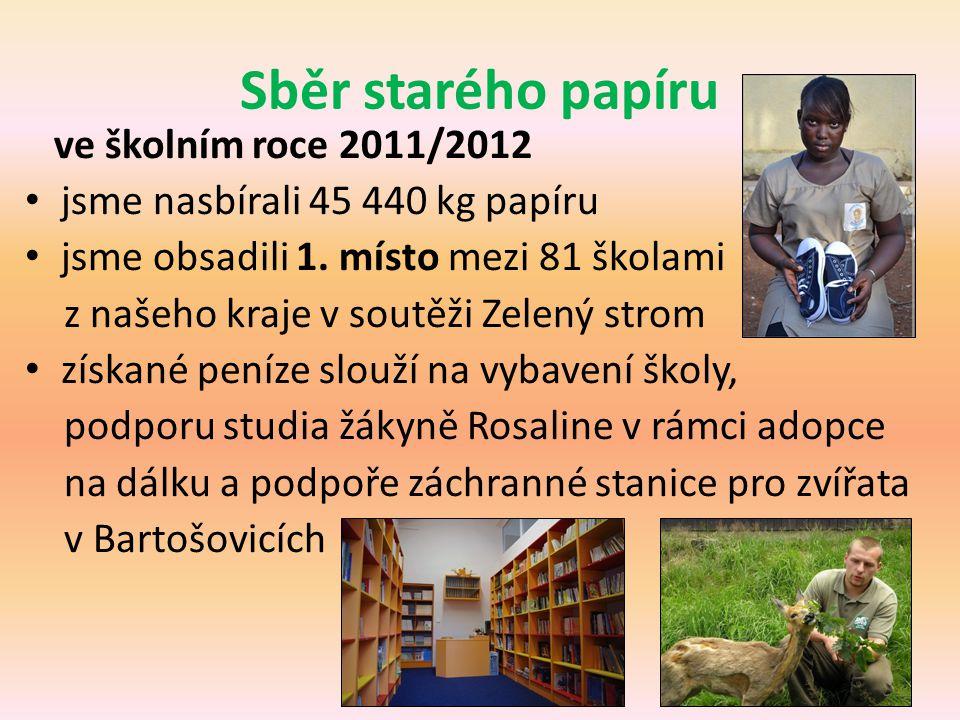 Sběr starého papíru ve školním roce 2011/2012