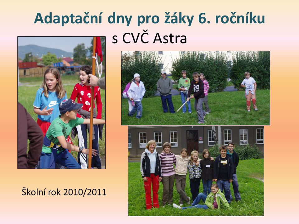 Adaptační dny pro žáky 6. ročníku s CVČ Astra