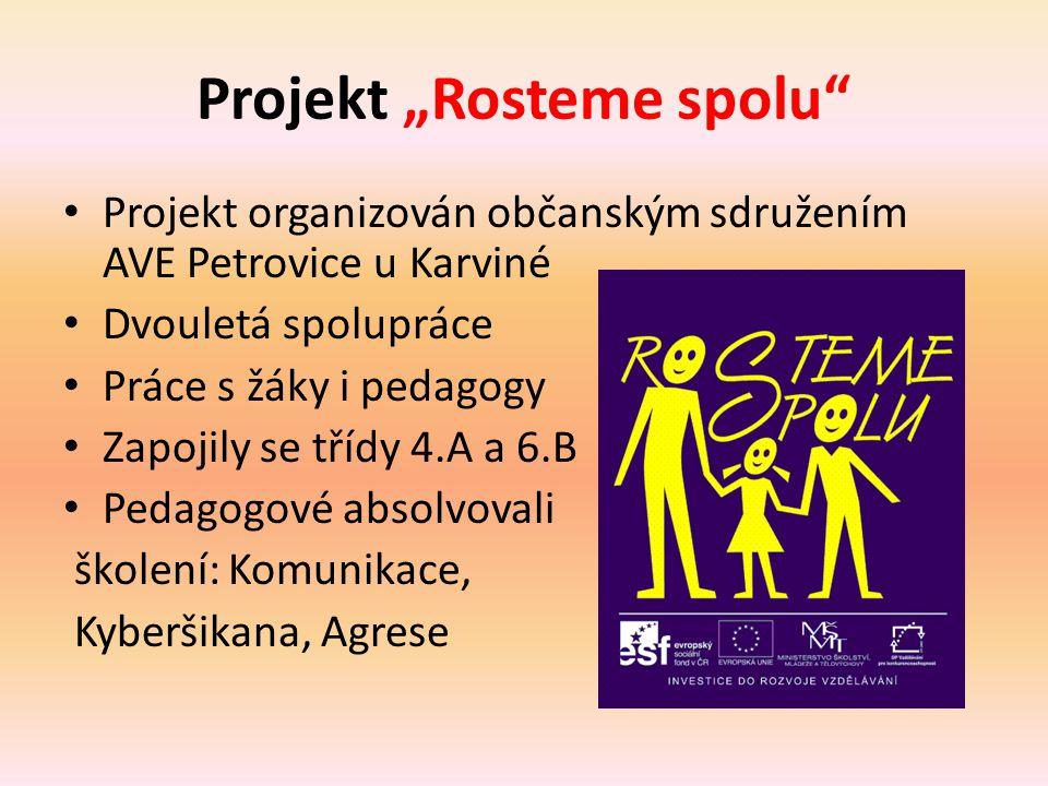 "Projekt ""Rosteme spolu"