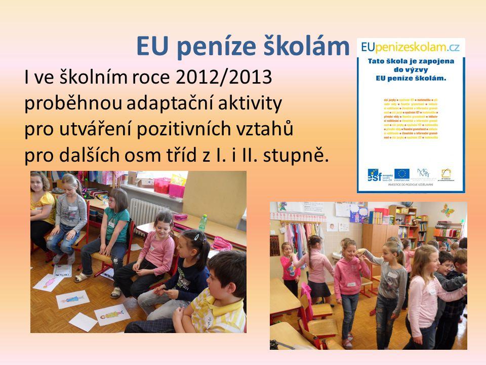 EU peníze školám I ve školním roce 2012/2013 proběhnou adaptační aktivity. pro utváření pozitivních vztahů.