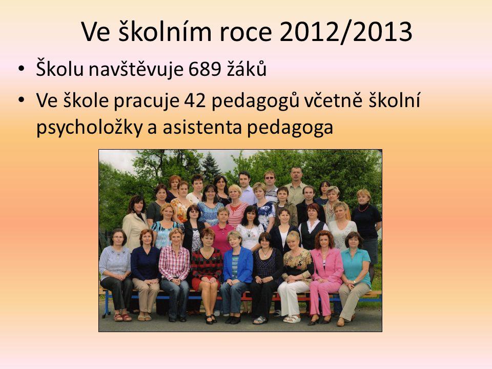 Ve školním roce 2012/2013 Školu navštěvuje 689 žáků