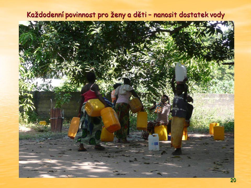 Každodenní povinnost pro ženy a děti – nanosit dostatek vody