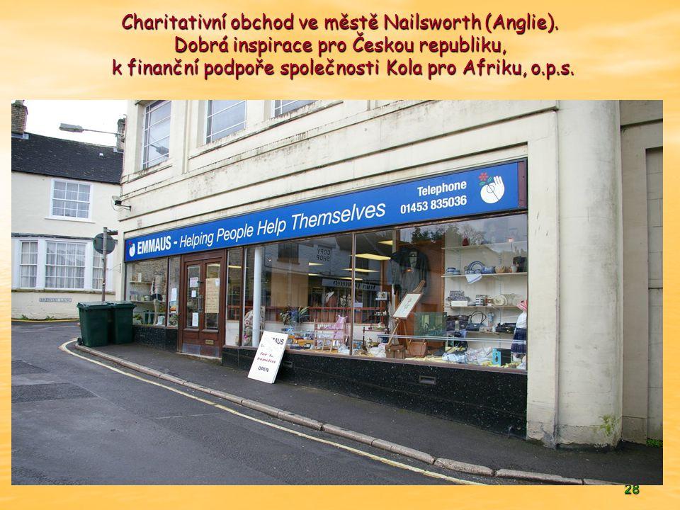Charitativní obchod ve městě Nailsworth (Anglie)