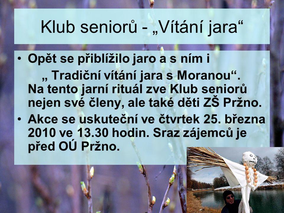 """Klub seniorů - """"Vítání jara"""