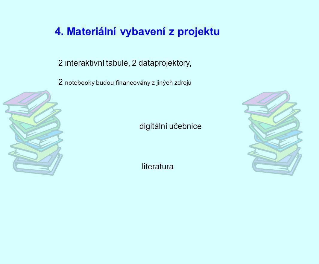 4. Materiální vybavení z projektu