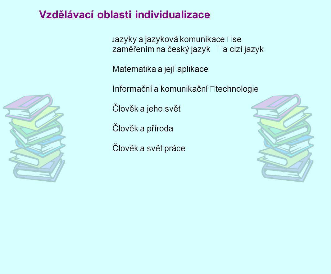 Vzdělávací oblasti individualizace