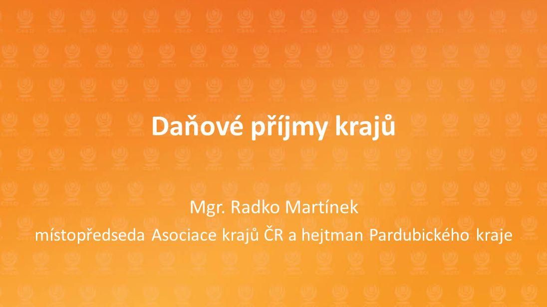 místopředseda Asociace krajů ČR a hejtman Pardubického kraje