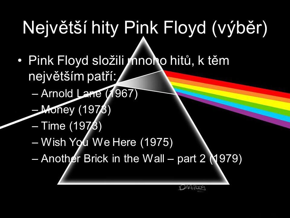 Největší hity Pink Floyd (výběr)