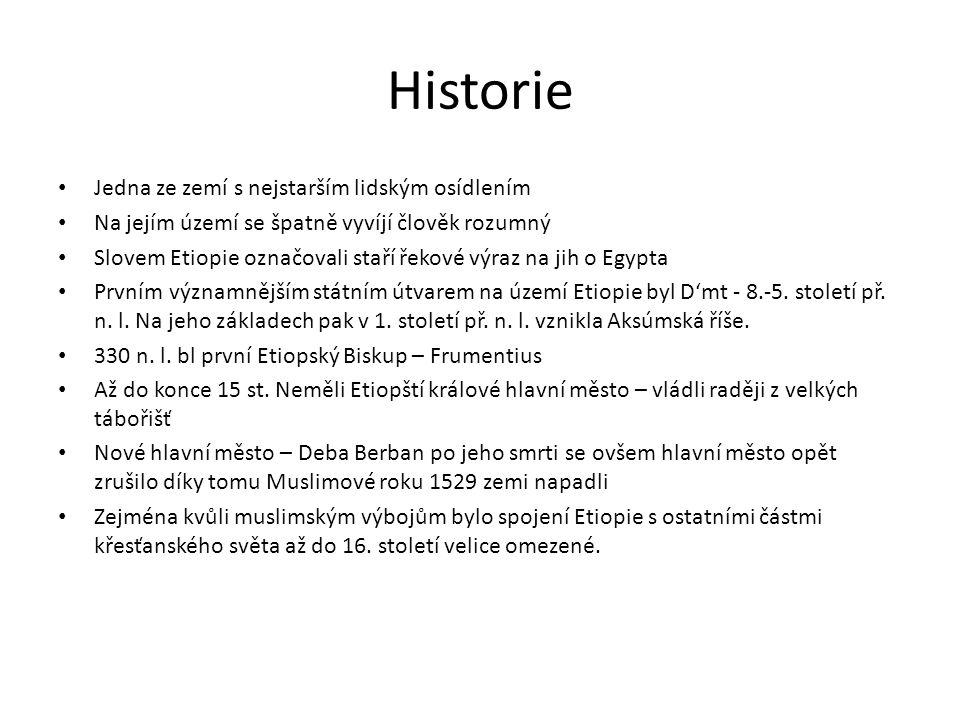 Historie Jedna ze zemí s nejstarším lidským osídlením