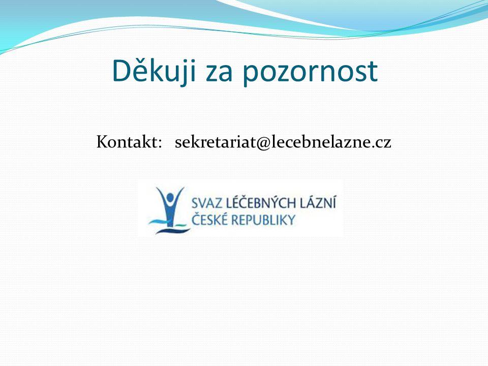 Kontakt: sekretariat@lecebnelazne.cz