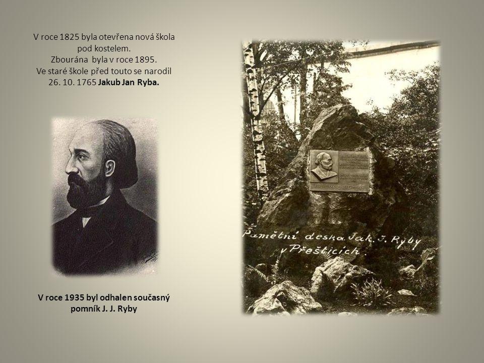 V roce 1935 byl odhalen současný pomník J. J. Ryby