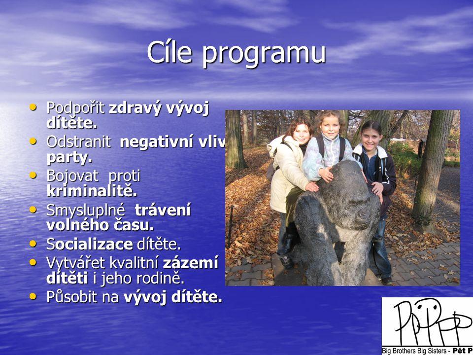 Cíle programu Podpořit zdravý vývoj dítěte.