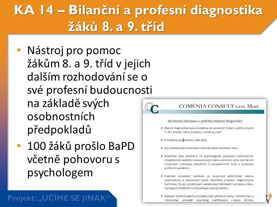 KA 14 – Bilanční a profesní diagnostika žáků 8. a 9. tříd