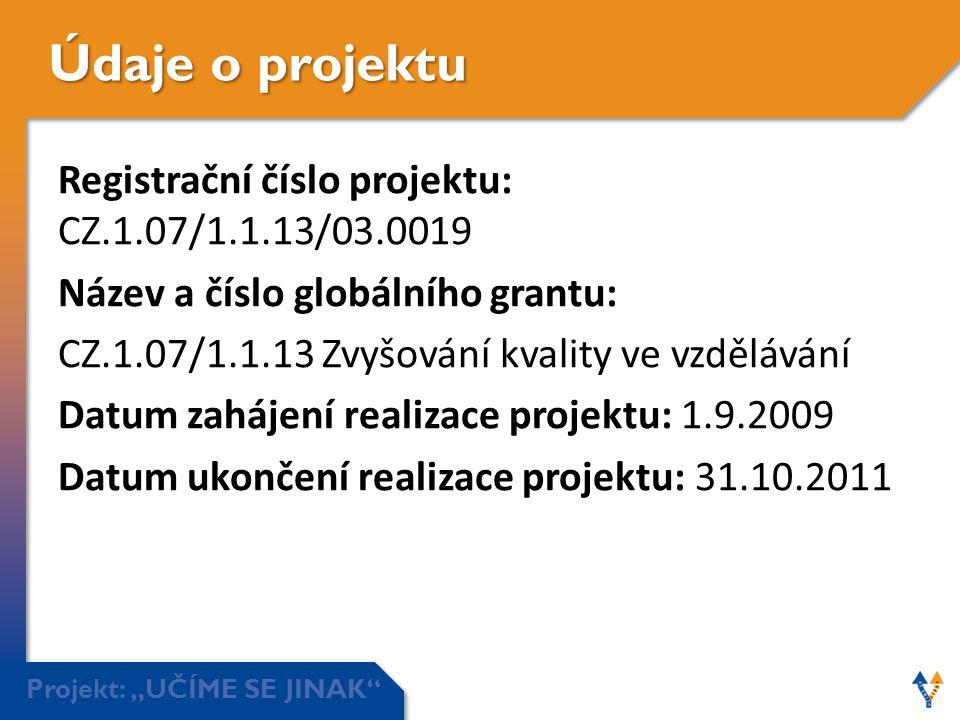 Údaje o projektu