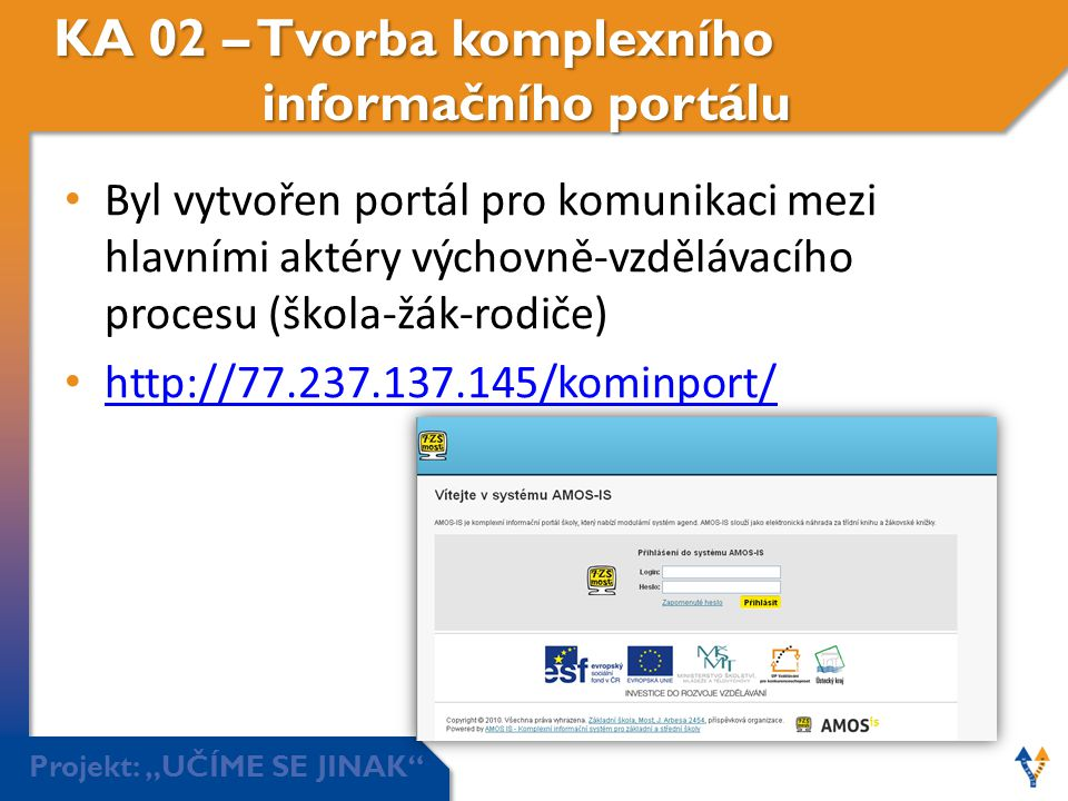 KA 02 – Tvorba komplexního informačního portálu