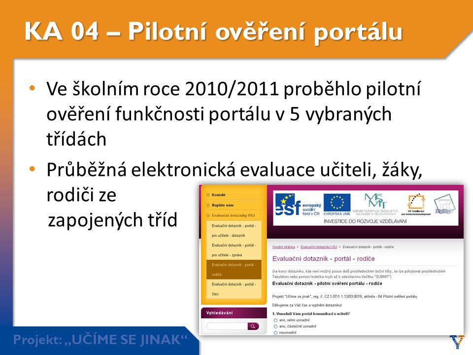 KA 04 – Pilotní ověření portálu