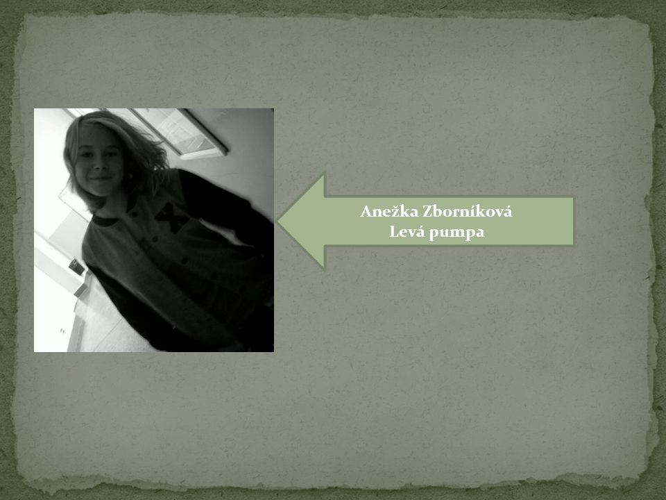 Anežka Zborníková Levá pumpa