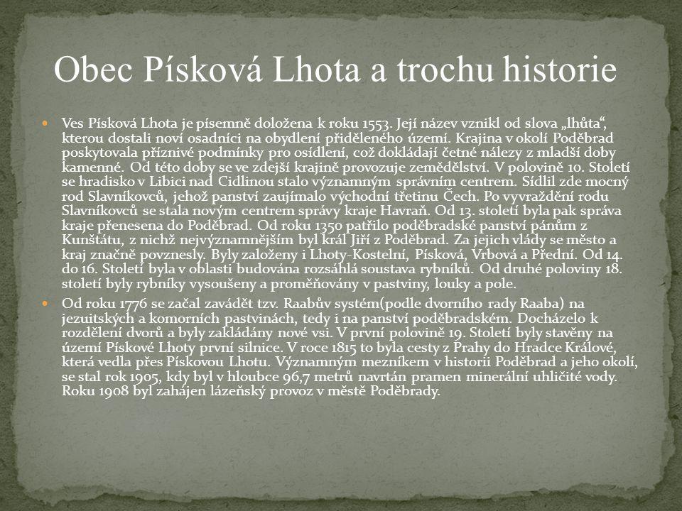 Obec Písková Lhota a trochu historie