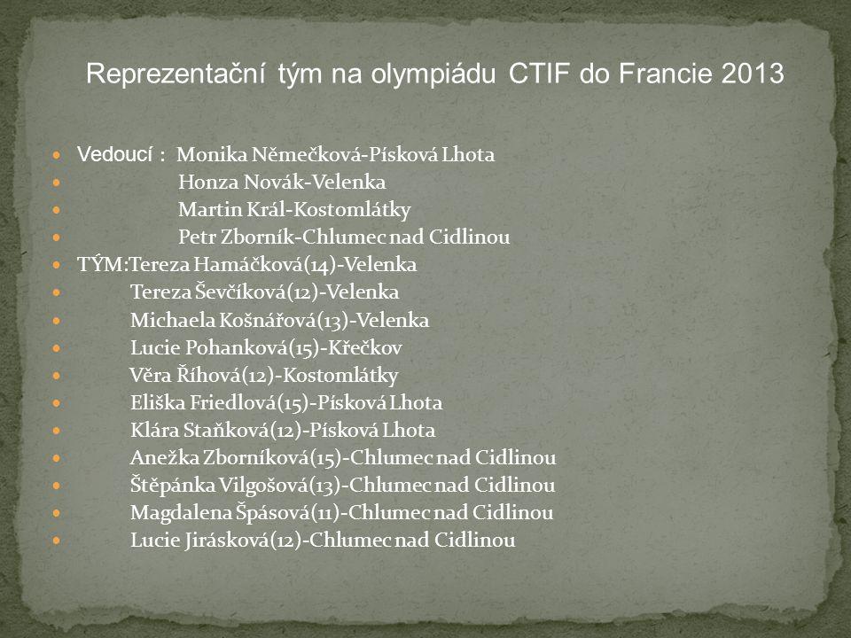 Reprezentační tým na olympiádu CTIF do Francie 2013