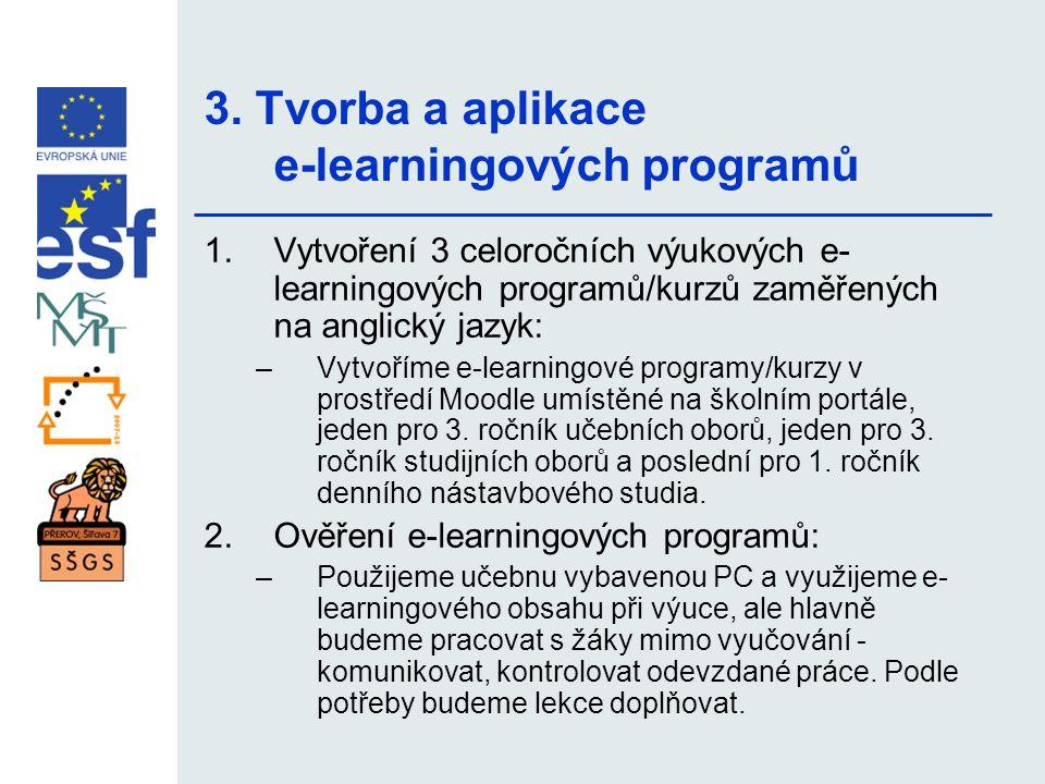 3. Tvorba a aplikace e-learningových programů