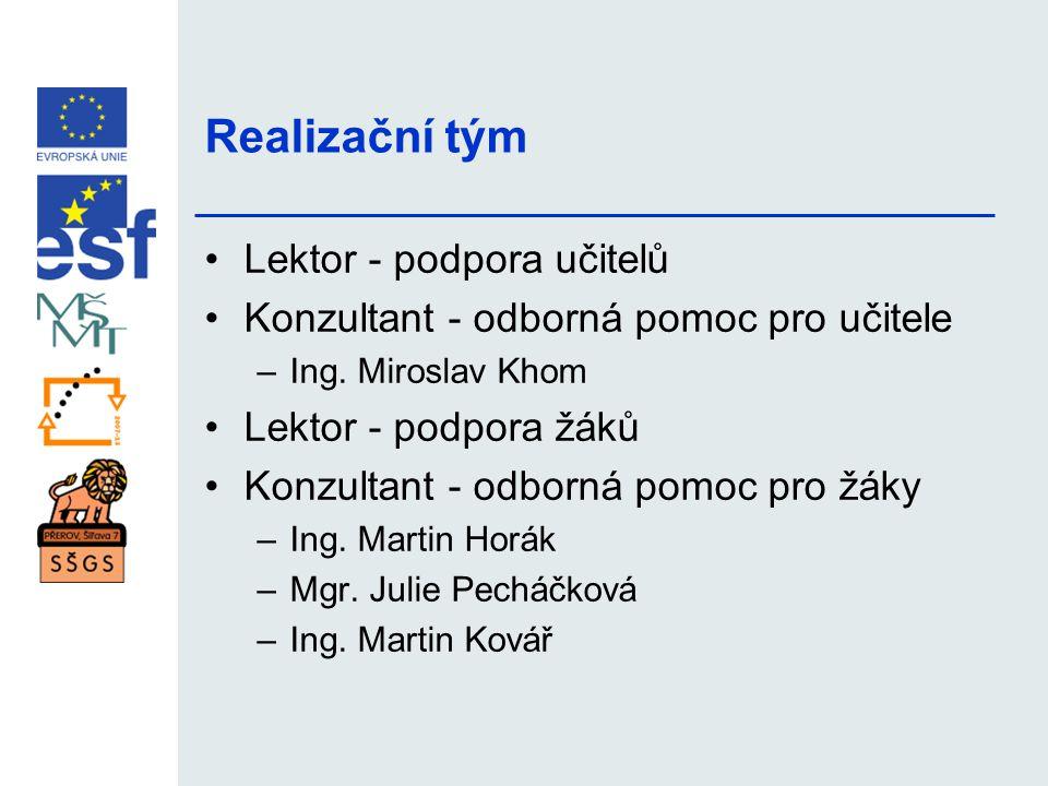 Realizační tým Lektor - podpora učitelů