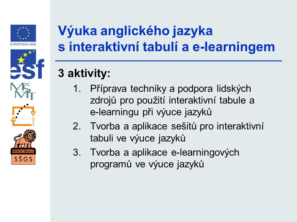Výuka anglického jazyka s interaktivní tabulí a e-learningem