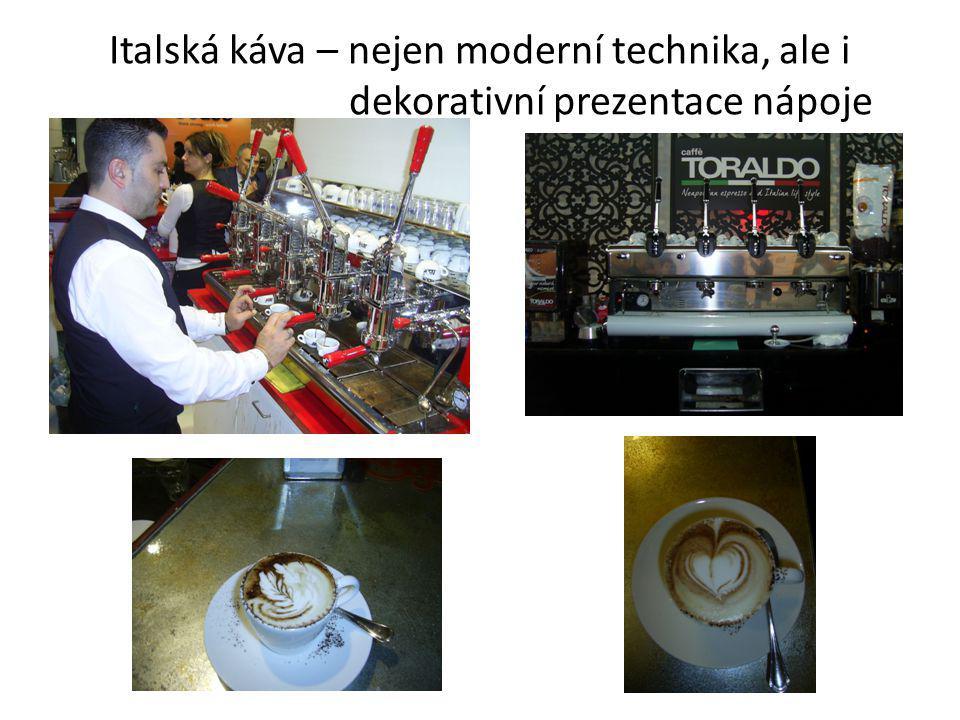 Italská káva – nejen moderní technika, ale i dekorativní prezentace nápoje