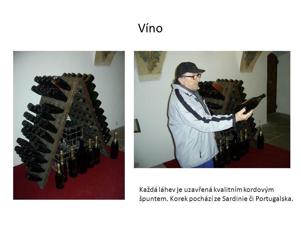 Víno Každá láhev je uzavřená kvalitním kordovým