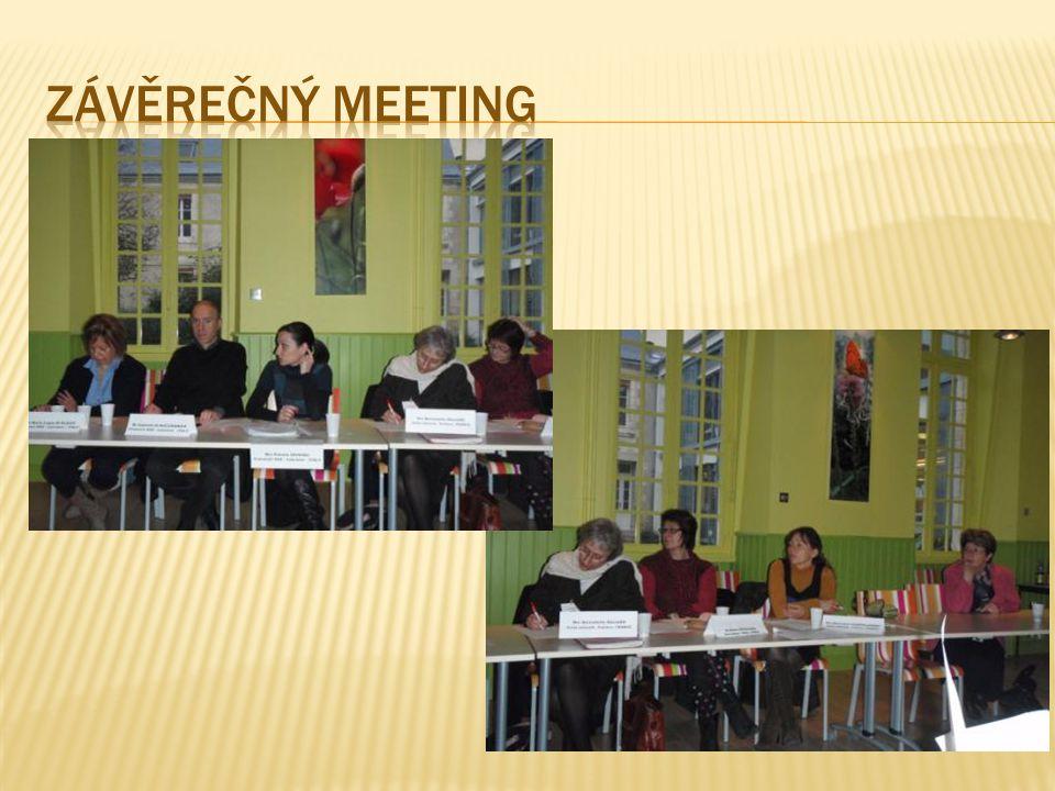 závěrečný meeting