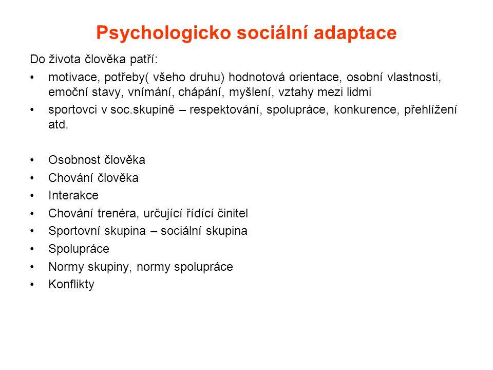 Psychologicko sociální adaptace