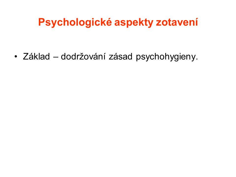 Psychologické aspekty zotavení