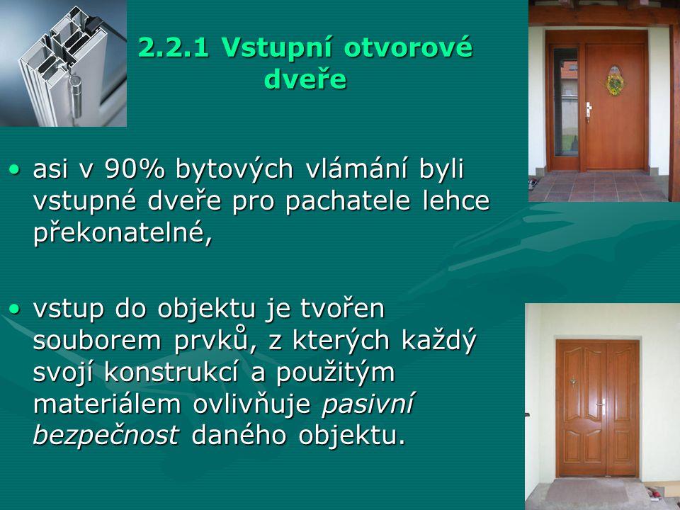 2.2.1 Vstupní otvorové dveře