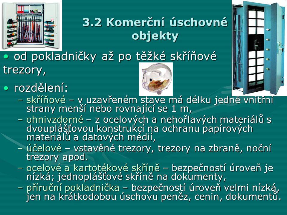 3.2 Komerční úschovné objekty