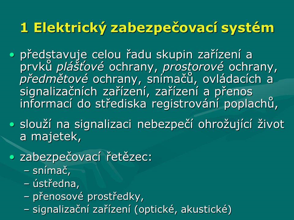 1 Elektrický zabezpečovací systém