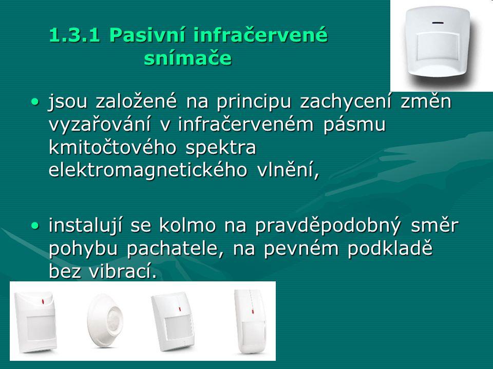 1.3.1 Pasivní infračervené snímače