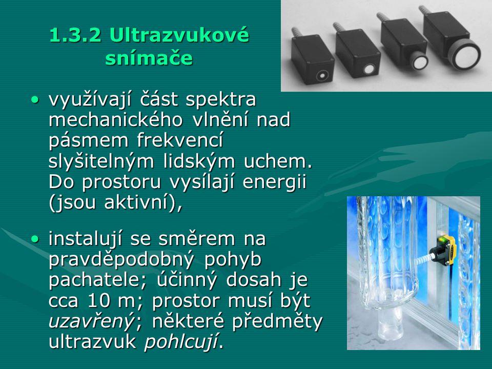 1.3.2 Ultrazvukové snímače