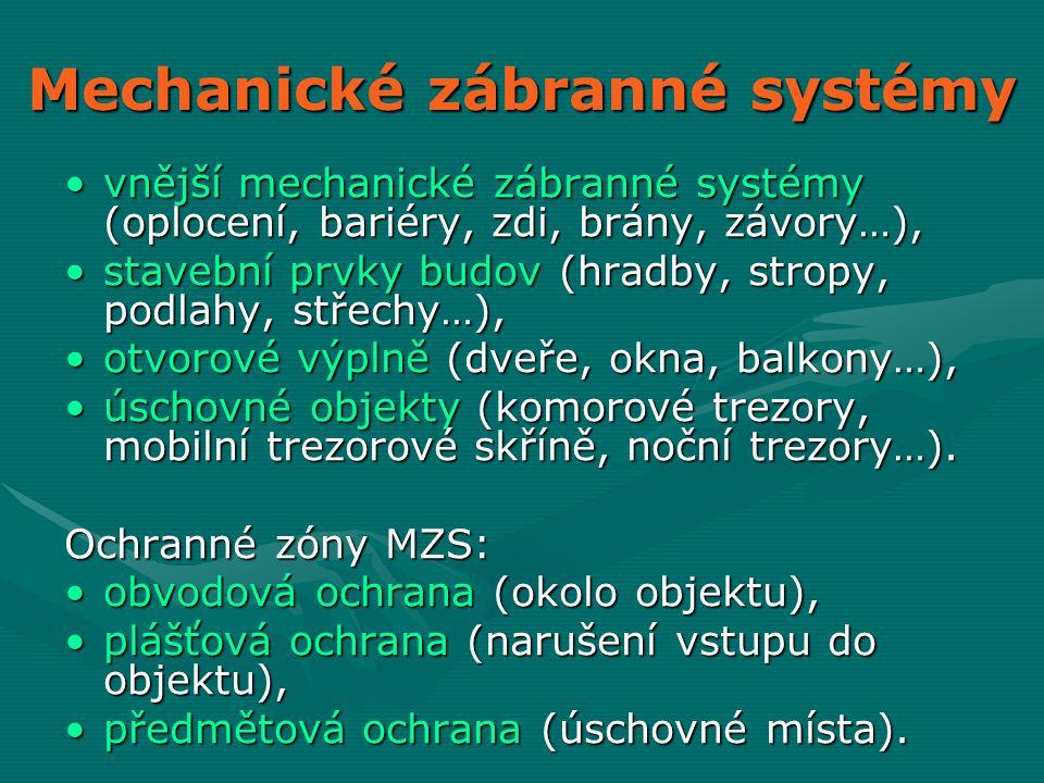 Mechanické zábranné systémy
