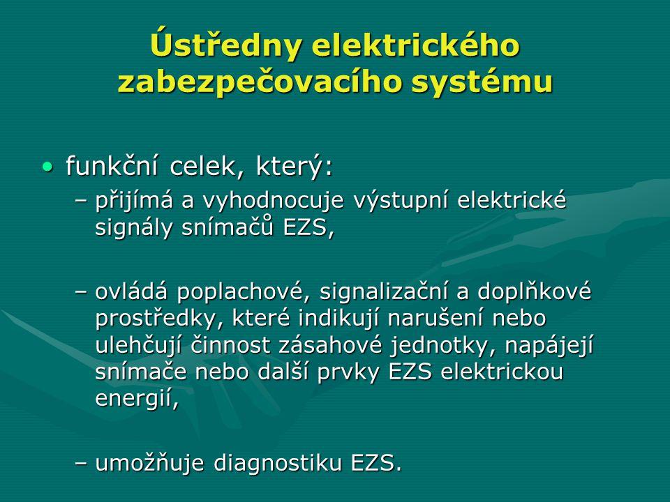 Ústředny elektrického zabezpečovacího systému