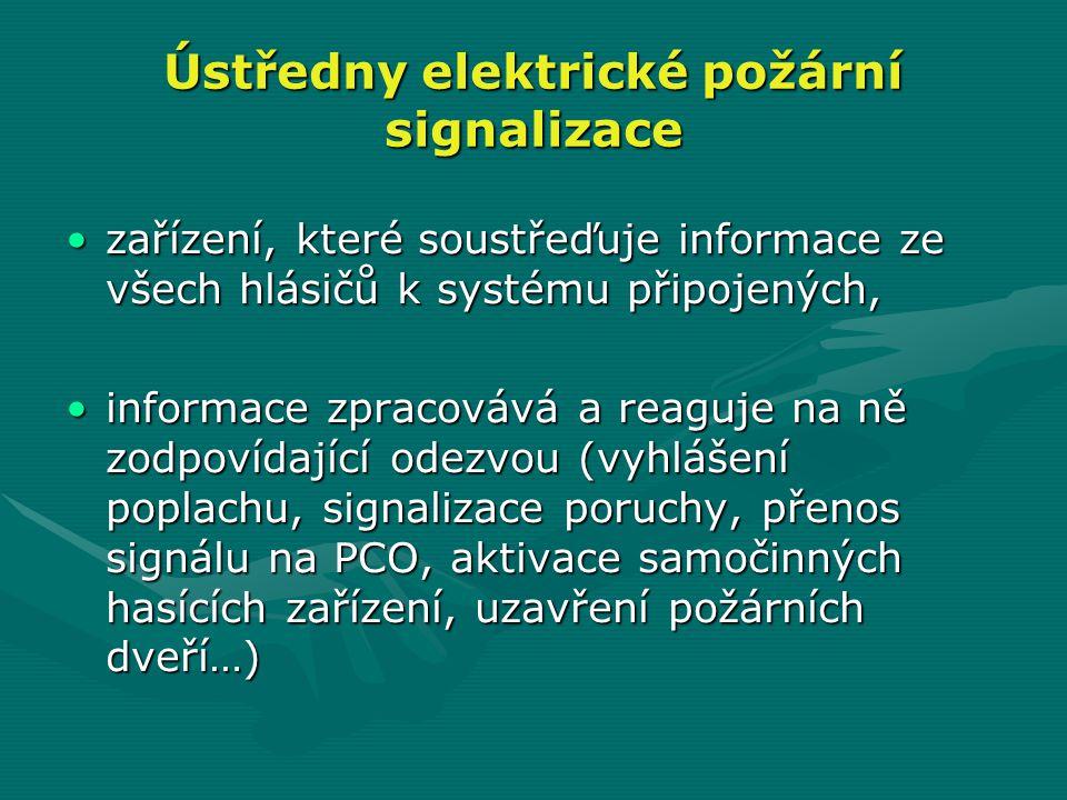 Ústředny elektrické požární signalizace