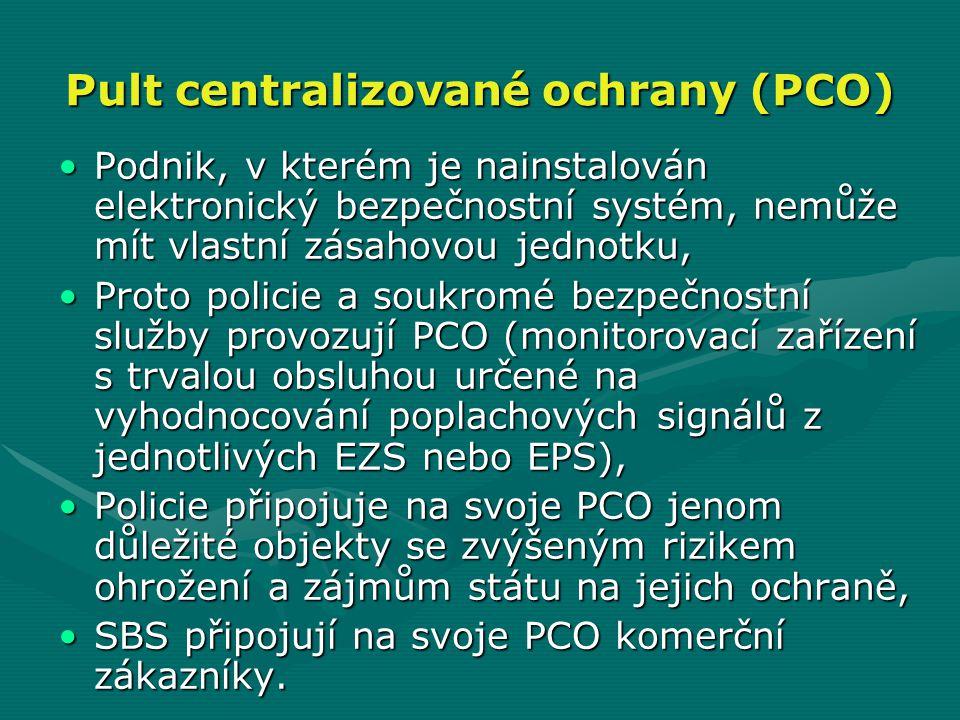 Pult centralizované ochrany (PCO)