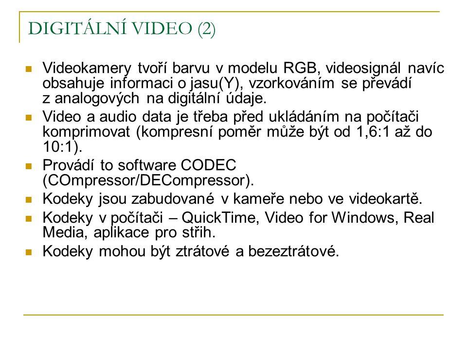 DIGITÁLNÍ VIDEO (2)