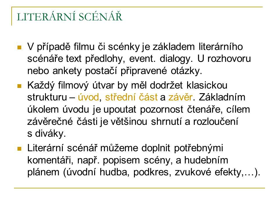 LITERÁRNÍ SCÉNÁŘ