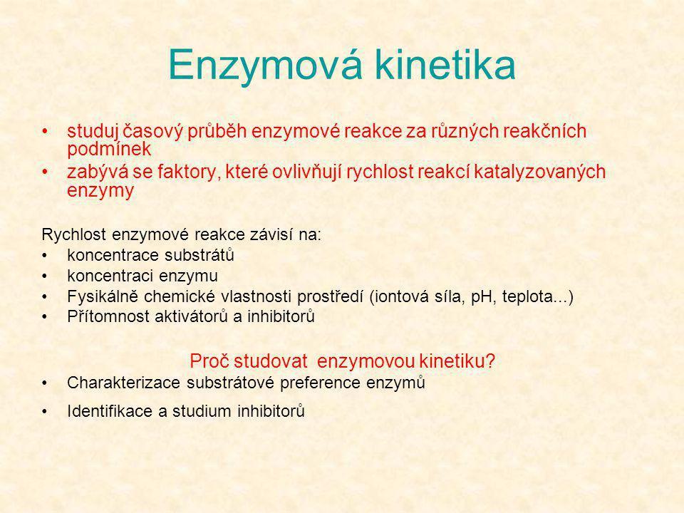 Proč studovat enzymovou kinetiku