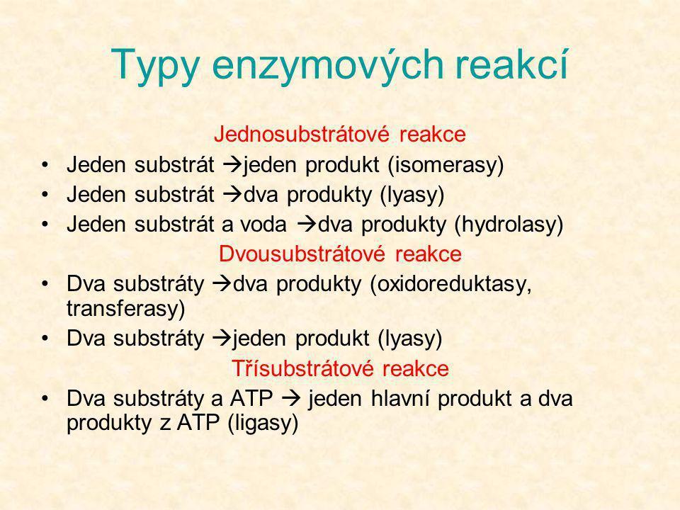 Typy enzymových reakcí