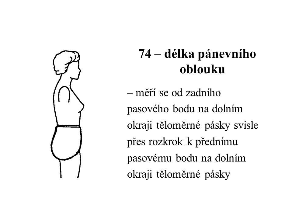 74 – délka pánevního oblouku