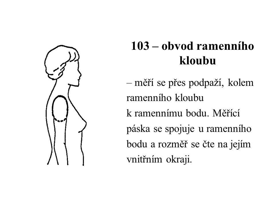 103 – obvod ramenního kloubu