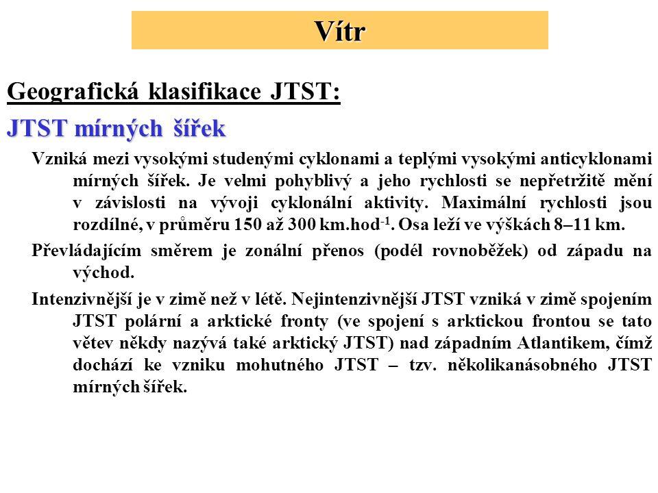 Vítr Geografická klasifikace JTST: JTST mírných šířek