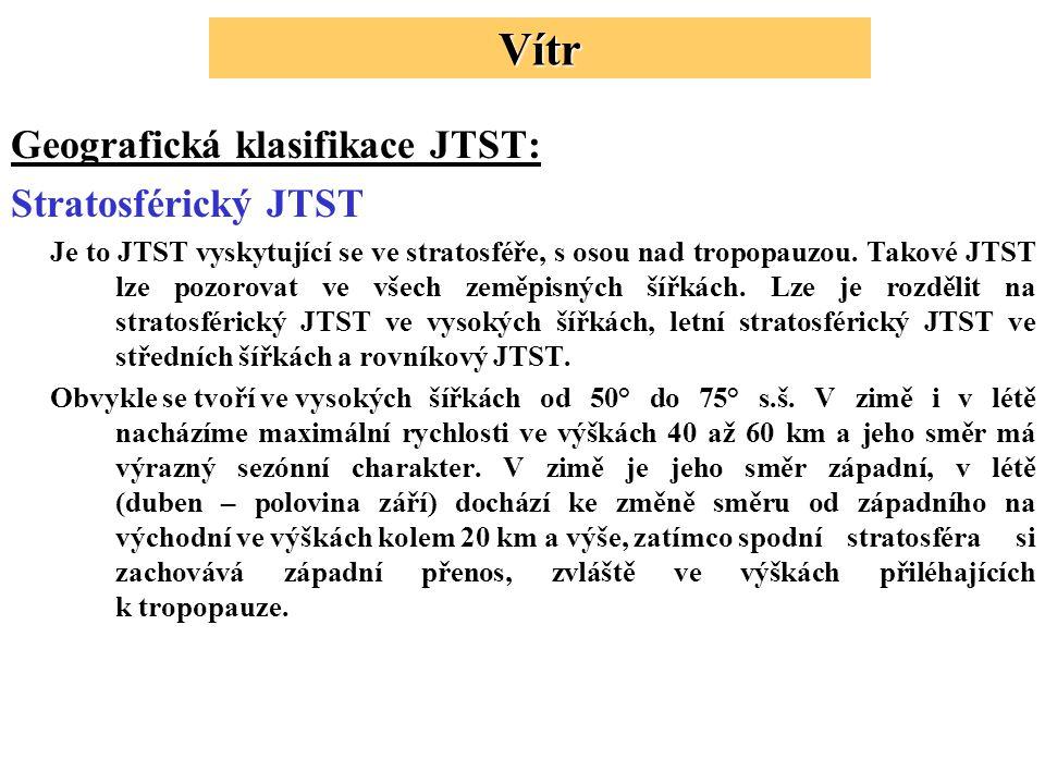 Vítr Geografická klasifikace JTST: Stratosférický JTST