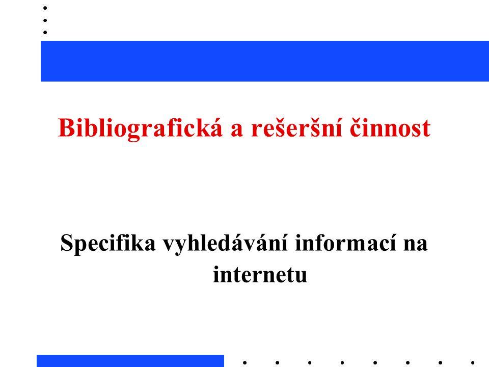 Bibliografická a rešeršní činnost